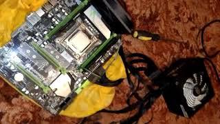 Материнская плата huananzhi X79 LGA2011 post code FF