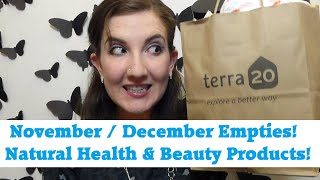 November/December Empties - Natural Health & Beauty Products! Thumbnail