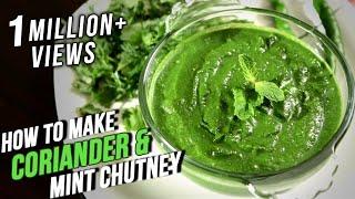 How To Make Coriander Mint Chutney | Easy Recipe By Ruchi Bharani | Basic Cooking