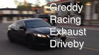 8th Gen Honda Accord Coupe Drive By Greddy Racing Ti-C Exhaust