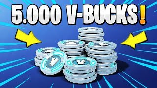 5,000 V-BUCKS DRAW AT FORTNITE