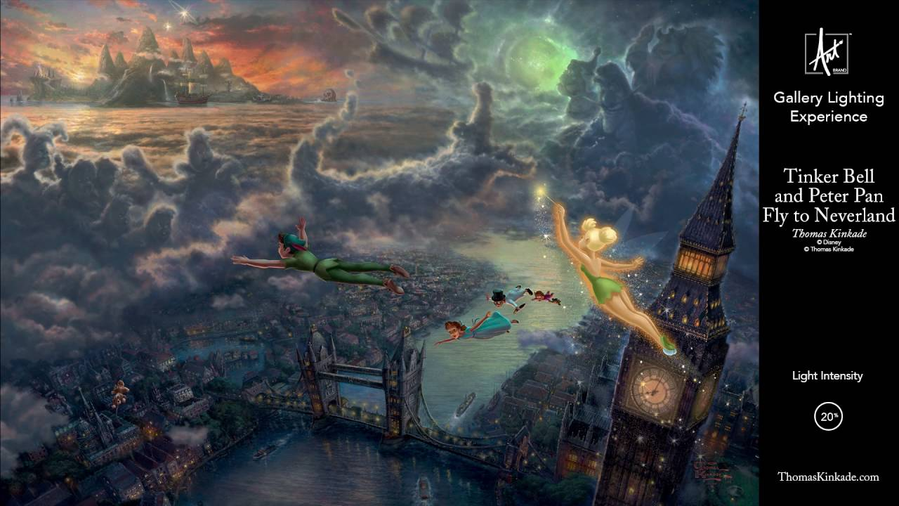 Disney Tinker Bell And Peter Pan Fly To Neverland R
