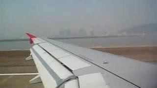 Air Asia Bangkok - Macau BKK- MFM Airbus A320 landing