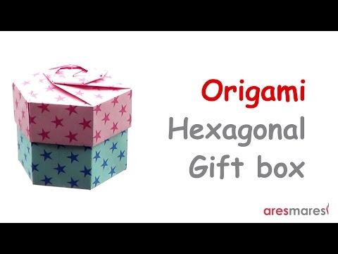 Origami Hexagonal Gift Box (intermediate - non modular)