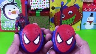 Spiderman walkie talkie surprise