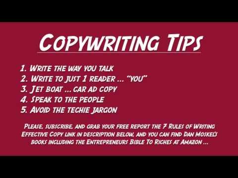 Copywriting Tips - Write in a Conversational Tone