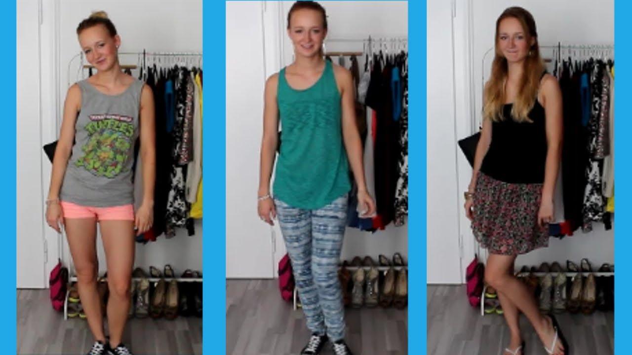 3 Outfits Für Uni Schule Alltag Sommer Mirellativegal Youtube