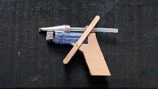 Membuat Lem Tembak dari kardus dan korek gas