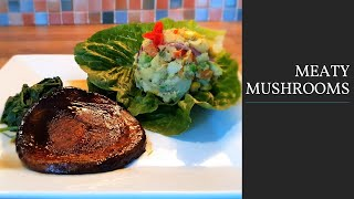 Meaty Mushrooms (Plant-based beef-like, burger, steak, meat Recipe)