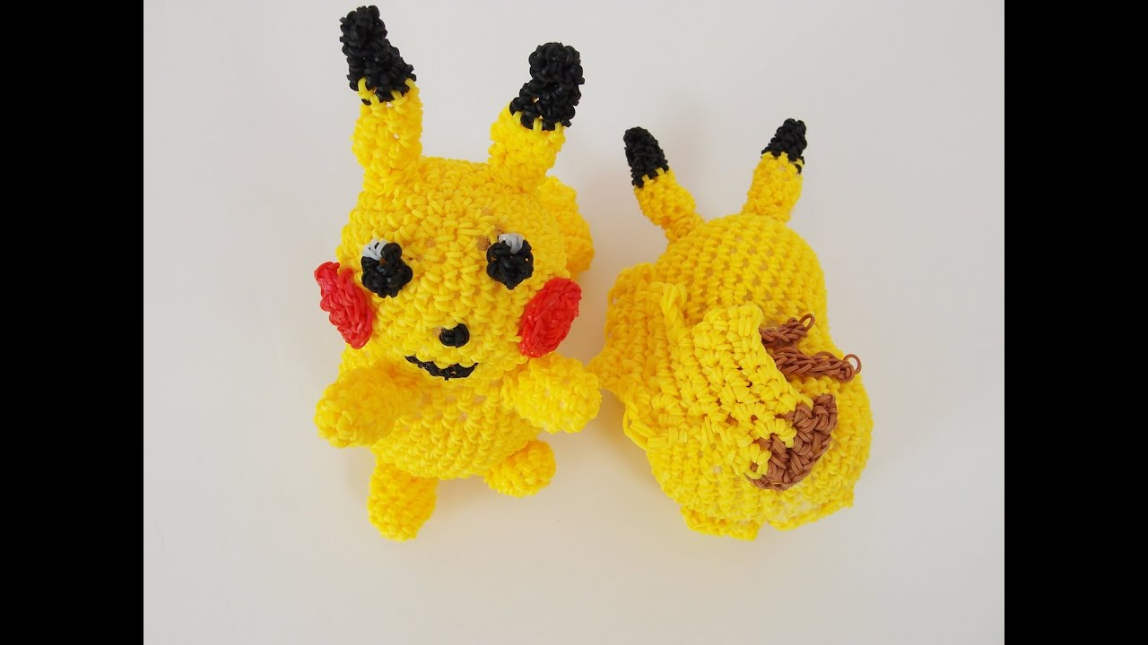 Amigurumi Tutorial Pokemon : Pikachu Pokemon Rainbow Loom Bands Amigurumi Loomigurumi ...
