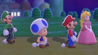 Super Mario 3D World - Full Game Co-op Walkthrough (All Green Stars & Stamps)