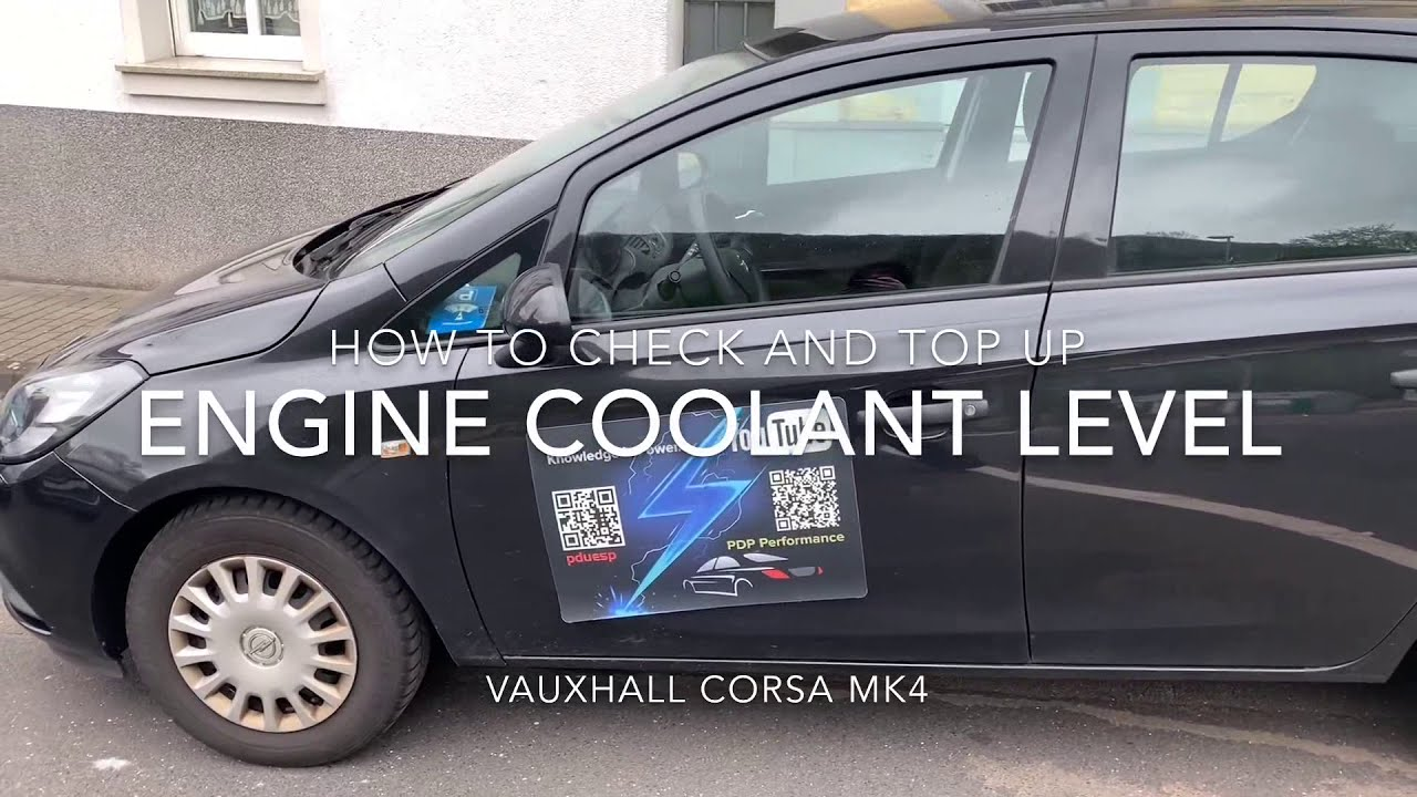 vauxhall engine coolant how to check and top up the engine coolant level with antifreeze  engine coolant level with antifreeze