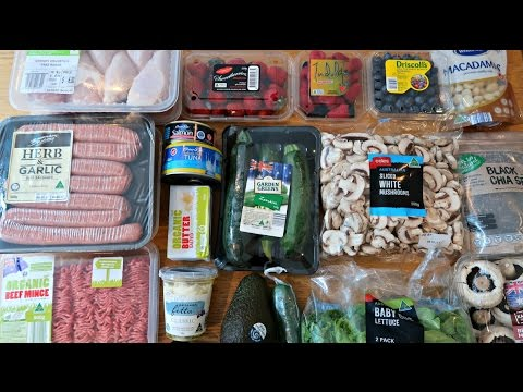 1st Grocery Haul For 2017 - Low Carb Keto Diet Foods - Australia