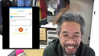 Mr.Sato practice English conversation with App