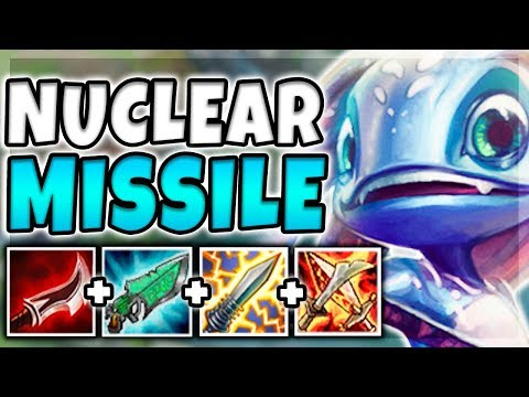 NUCLEAR MISSILE FIZZ MID! 100% INSTANT ONE-SHOT CARRIES WITH W (BROKEN) - League of LegendS
