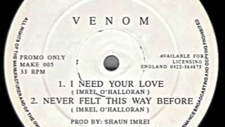 Venom - Never Felt This Way Before - Creative Rhythm Records