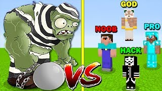 MINECRAFT BATTLE: GARGANTUAR CRIMINAL VS NOOB VS PRO VS HACKER VS GOD - FUNNY MINECRAFT TROLLING