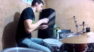 Кавер на Limp Bizkit ''Eat You Alive'', барабаны - Цыбуля Станислав