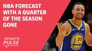 NBA forecast with a quarter of the season gone thumbnail