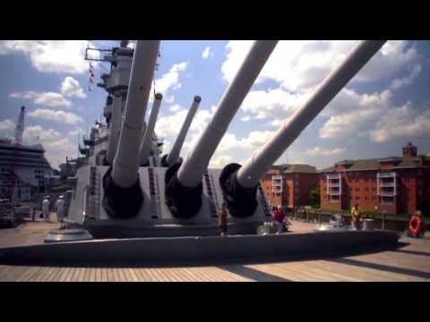 Nauticus Battleship Wisconsin Norfolk, VA - Unravel Travel TV
