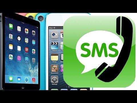 Cómo realizar y recibir llamadas telefónicas / mensajes texto en iPod touch y iPad gratis