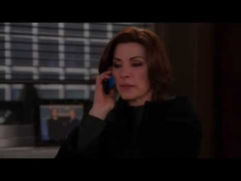 Alicia tells Cary that Will died, The Good Wife 5x16 The Last Call