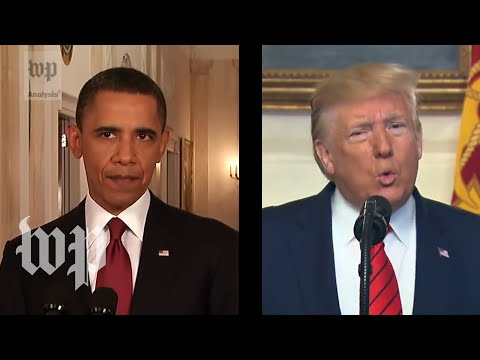 How Trump's Tone On Baghdadi's Death Compares To Obama's Tone On Bin Laden