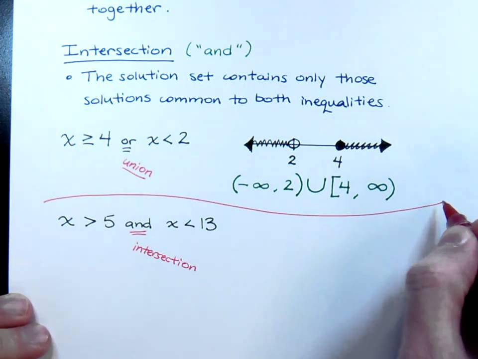 1 6 Clearly Explained Compound Inequalities Part 1 College Algebra Education Math Algebra I