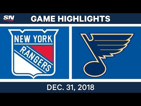 NHL Highlights | Rangers vs. Blues - Dec 31, 2018