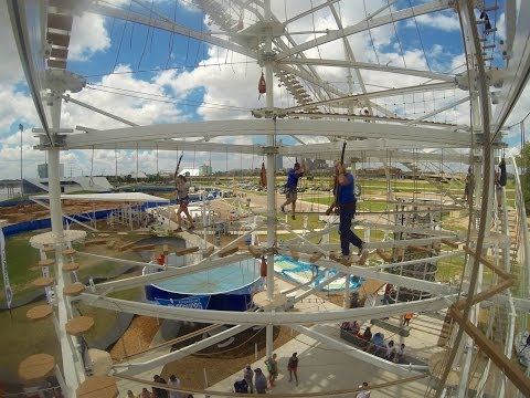 Oklahoma City Riversport Adventures - Sky Trail, Rumble Drop and Sky Slide - GoPro