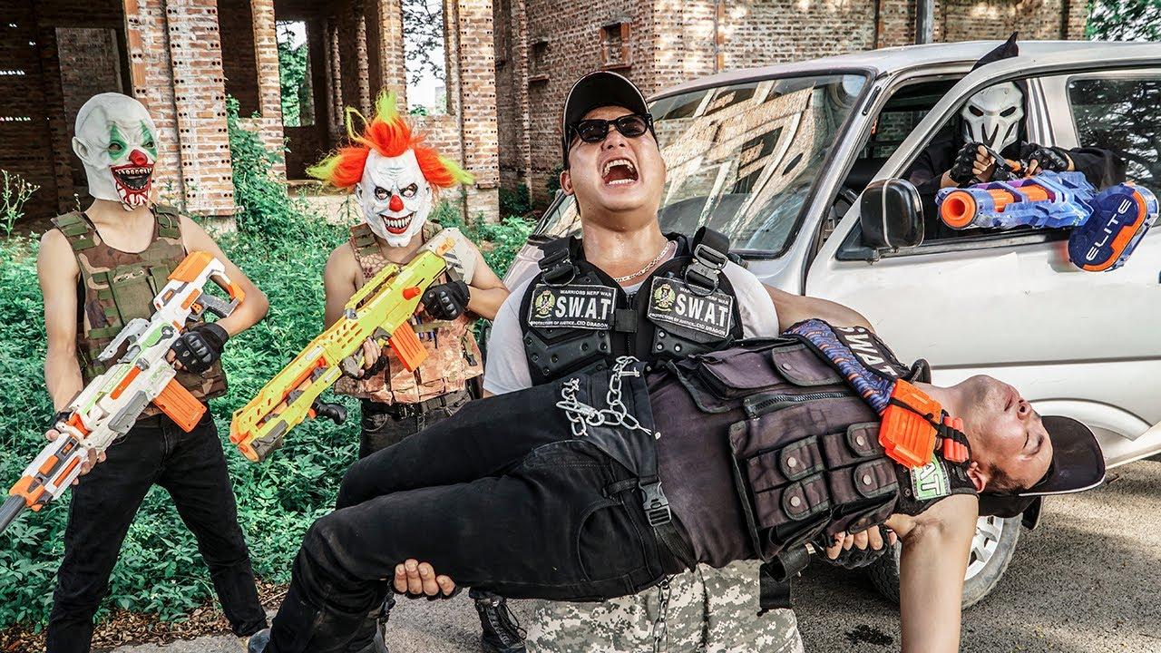 LTT Films : Marines S.E.A.L X Nerf Guns Fight Beast Army Mask Avenger TEAM SWAT