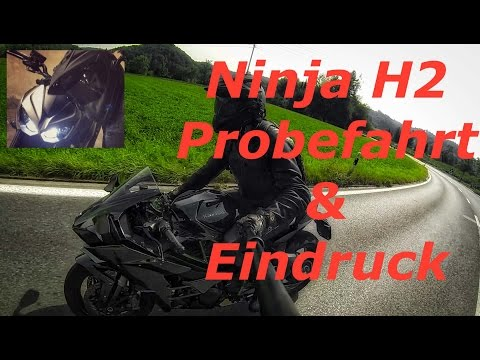 Kawasaki Ninja H2   Probefahrt   Eindruck   heftige Reaktion - Z1000 MotoVlog #21 [Deutsch]