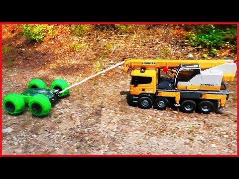 RC Car Pulls Toy Crane