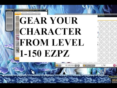 MAPLESTORY: How To GEAR Your Character