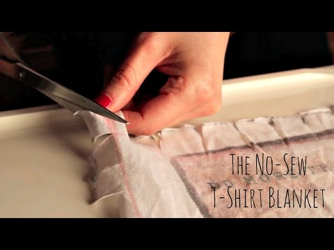 How to make at shirt quilt without a sewing machine