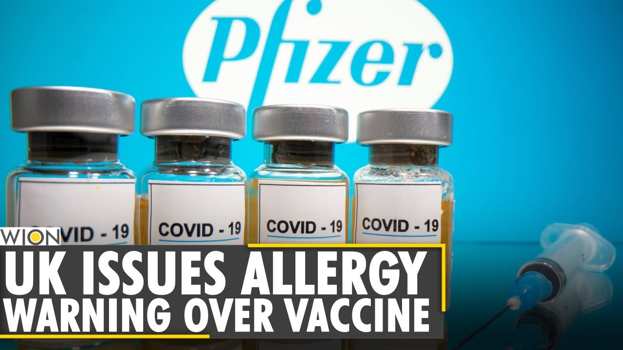 UK issues anaphylaxis warning on Pfizer vaccine after adverse reactions -  YouTube