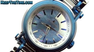 Chase-Durer Xanadu Blue/Steel Automatic Mother of Pearl Dial Watch (HD Video Review)