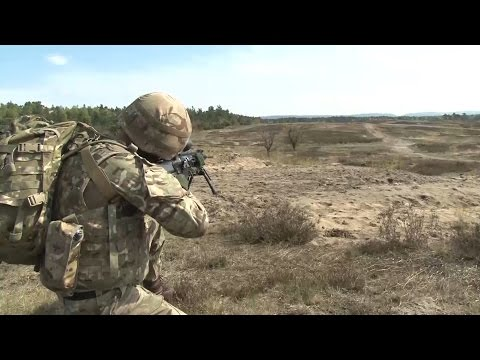 Royal Marines Hone Live Firing Skills In Germany