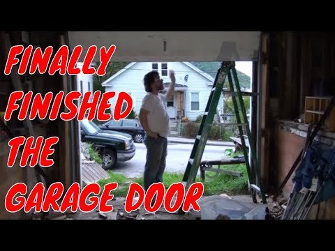 FINALLY FINISHED THE GARAGE DOOR