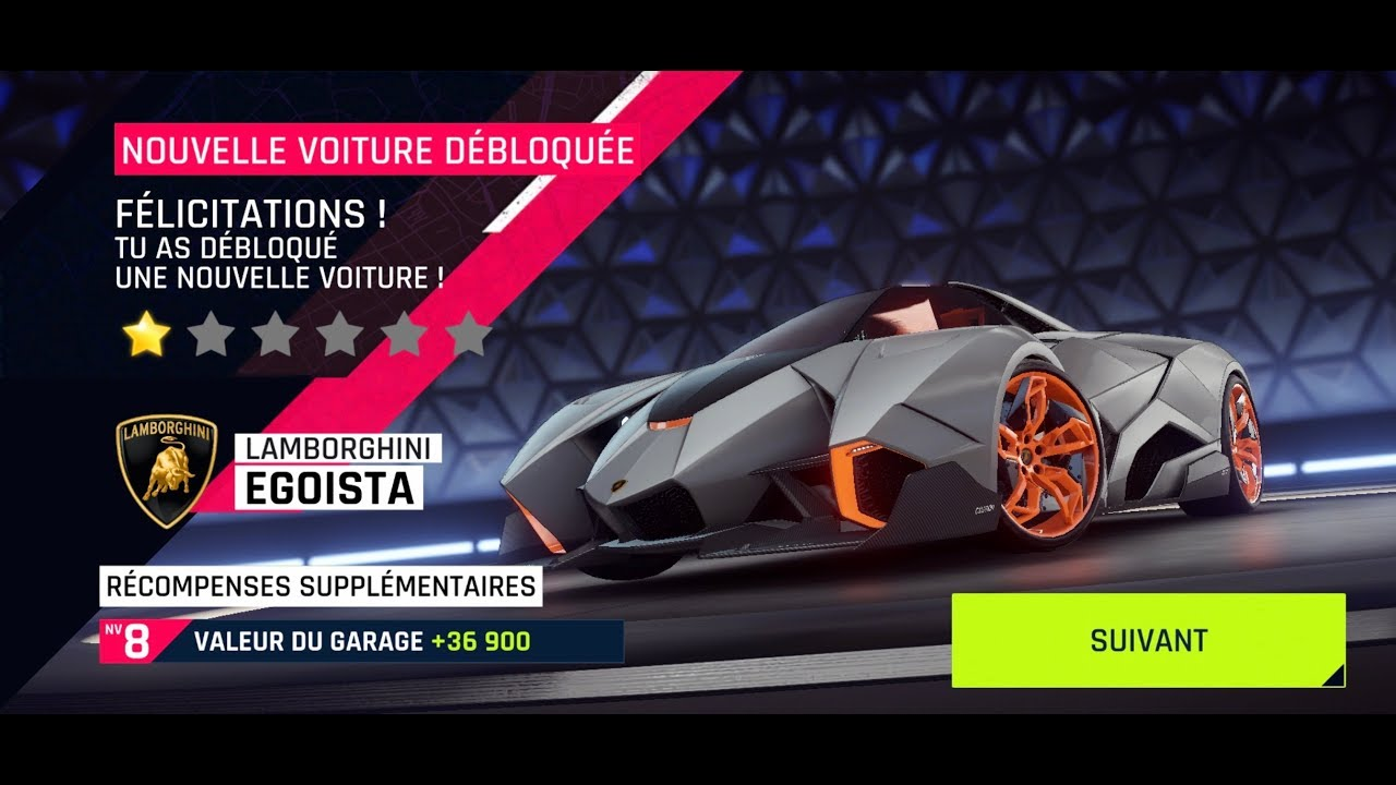 Asphalt 9 Lamborghini Egoista Unlocked Youtube