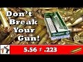 5.56 NATO and .223 Remington Ammo Is Different... Don't blow up your AR 15!