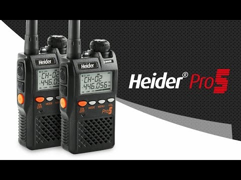 Heider Pro5 3rd Generation PMR Radio - 15 Km Talking Range