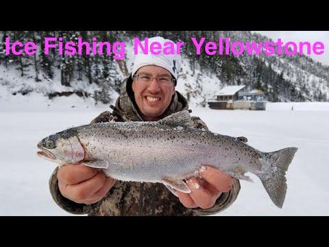 Ice Fishing Near Yellowstone