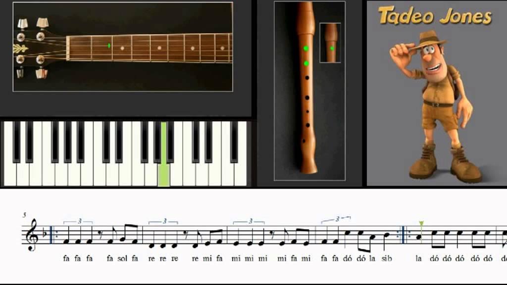 Flauta, Teclado Y Guitarra