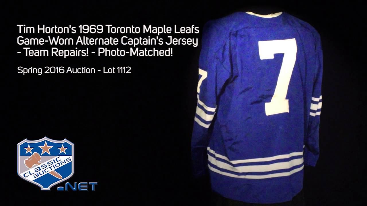 2548b 7714a  buy tim hortons 1969 toronto maple leafs game worn alternate  captains jersey 657ae 75553 ff433bdb2