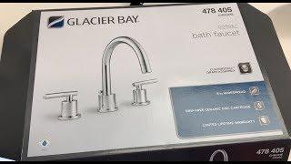 how to install a glacier bay 3 piece bathroom faucet