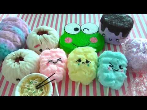 Homemade Squishy Collection Part 1 : How to Make a Toast Squishy Doovi