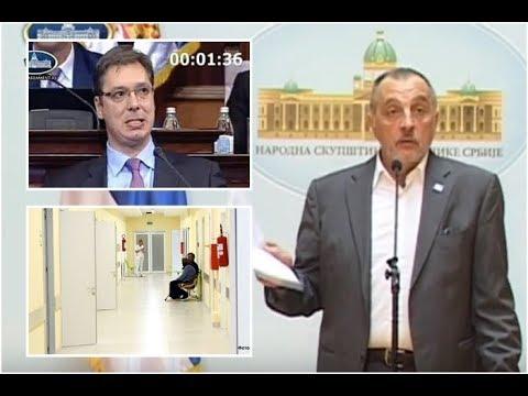 Skupština: Živković Opet Izazvao Skandal - Vučića Poslao U Bolnicu, Na Lečenje