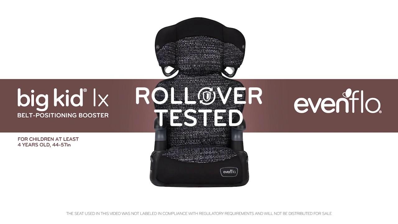 Evenflo Big Kid LX Belt-Positioning Booster Seat - High Back and No Back Modes