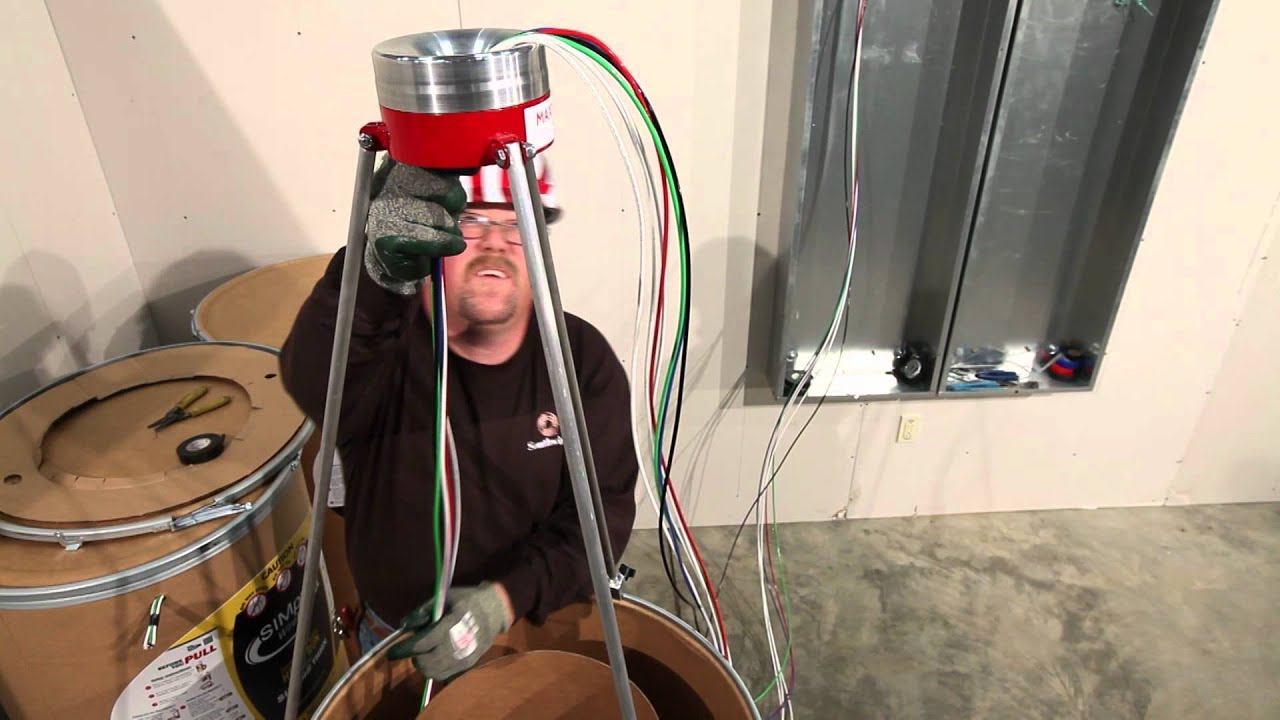 Southwire\'s SIMpull BARREL™ Cable Drum How-To - YouTube